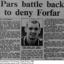 The Courier Report 28/07/1995 (ForfarAthletic(a))