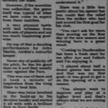 The Courier Report 14/08/1995 (Airdrieonians(a))