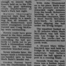 The Courier Report 16/08/1995 (RaithRovers(a))