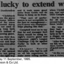 The Courier Report 11/09/1995 (Clydebank(h))