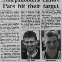 The Courier Report 23/10/1995 (Dumbarton(h))