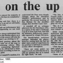 The Courier Report 30/10/1995 (DundeeUnited(a))