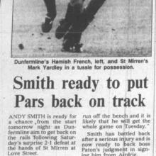 The Courier Report 08/01/1996 (StMirren(a))