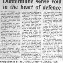 The Courier Report 15/01/1996 (Clydebank(h))