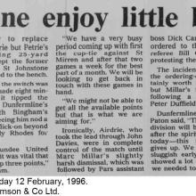 The Courier Report 12/02/1996 (Airdrieonians(a))