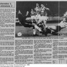 The Courier Report 29/02/1996 (StJohnstone(h))
