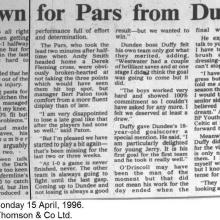 The Courier Report 15/04/1996 (Dundee(a))