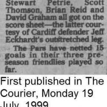 The Courier Report 19/07/1999 (CardiffCity(h))