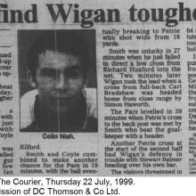 The Courier Report 22/07/1999 (WiganAthletic(h))