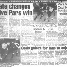 Match Report 23/07/1999 (CardiffCity(h))