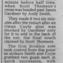 The Courier Report 03/08/1999 (ForfarAthletic(a))