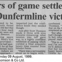 The Courier Report 09/08/1999 (InvernessCaledonianThistle(h))