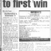 Match Report 13/08/1999 (InvernessCaledonianThistle(h))
