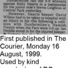 The Courier Report 16/08/1999 (KeltyHearts(a))