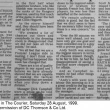 The Courier Report 28/08/1999 (Falkirk(h))