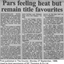 The Courier Report 27/09/1999 (AyrUnited(h))