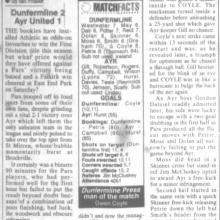 Match Report 01/10/1999 (AyrUnited(h))
