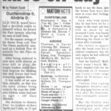 Match Report 22/10/1999 (Airdrieonians(h))