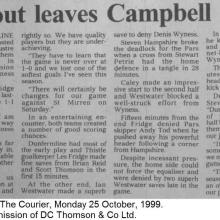 The Courier Report 25/10/1999 (InvernessCaledonianThistle(a))