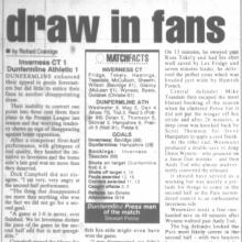 Match Report 29/10/1999 (InvernessCaledonianThistle(a))