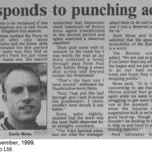 The Courier Report 08/11/1999 (RaithRovers(h))