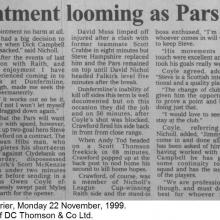 The Courier Report 22/11/1999 (Falkirk(a))