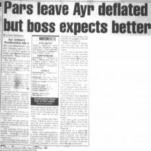 Match Report 10/12/1999 (AyrUnited(a))