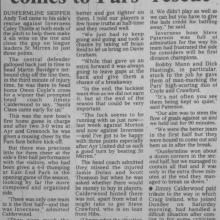 The Courier Report 20/12/1999 (InvernessCaledonianThistle(h))