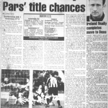 Match Report 24/12/1999 (InvernessCaledonianThistle(h))