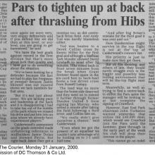 The Courier Report 31/01/2000 (Hibernian(a))