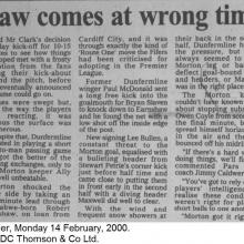 The Courier Report 14/02/2000 (Morton(h))