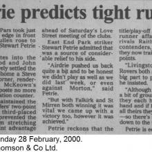 The Courier Report 28/02/2000 (Airdrieonians(a))