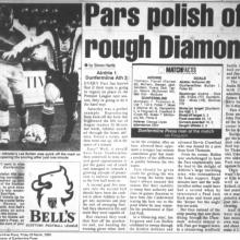 Match Report 03/03/2000 (Airdrieonians(a))