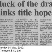 The Courier Report 01/05/2000 (Airdrieonians(h))